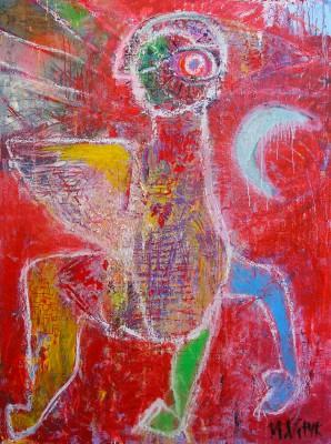 Farawar, 2013, acrylic, enamel, spray paint, oil bar, 200X150cm (78x59in)