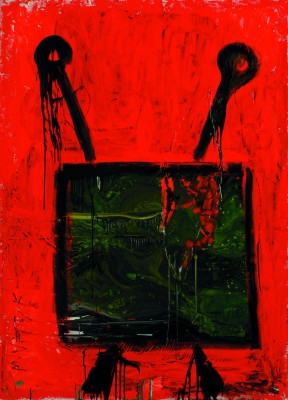 TV Set, 2007, acrylic, enamel on canvas, 200x150cm (78x59in)