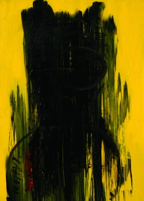 Lady in Black, 2008, acrylic, enamel on canvas, 200x150cm (78x59in)