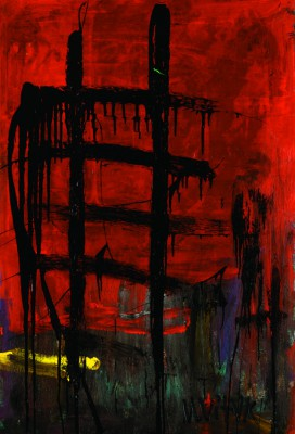 The Stairway to Heaven 2, 2008, acrylic, enamel on canvas, 150x100cm (59x39in)