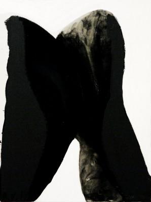 The Kiss, 2009, acrylic, oil stick, enamel on canvas, 80x60cm (31.5x24in)