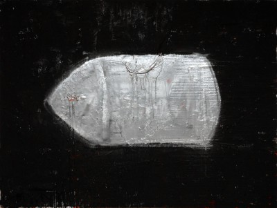Silver Bullet, 2009, acrylic, enamel, spray paint on canvas, 150x200cm (59x78in)