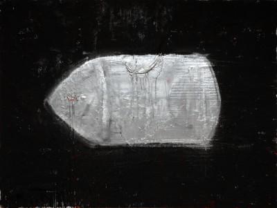 Silver Bullet, 2009, acrylic, enamel, spray paint on canvas, 150x200cm (59x78in)