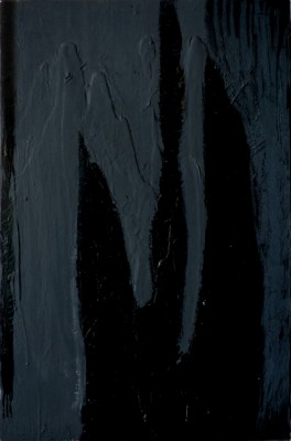 Black on Black, 2009, acrylic, oil stick, enamel on canvas, 150x100cm (59x39in)