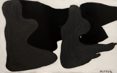 August Shadows, 2009, acrylic, oil stick, enamel on canvas, 130x200cm (51x78in)