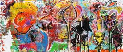Escape from samsara, 2012, 200X500cm (78x197in)