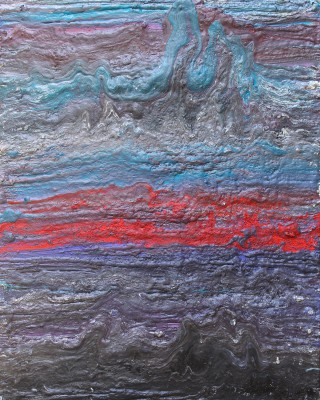 The Furongian Epoch of the Cambrian Period: 499 to 488 million years ago. 2015, enamel and foam on canvas, 150X120cm (59x47in).