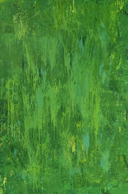 Green Energy, 2013, enamel on canvas, 300x200cm (118x78in). The Green Energy painting represents the Energy of Growth. Green contains the powerful energies of nature, growth, desire to expand or increase. In Chinese phylosophy, green is associated with Wood energy element - the energy of rising, expanding, and is the force of growth and flexibility.  Wood is the most human of the elements. It is the element of spring. Today, green is associated with renewable bio-energy.