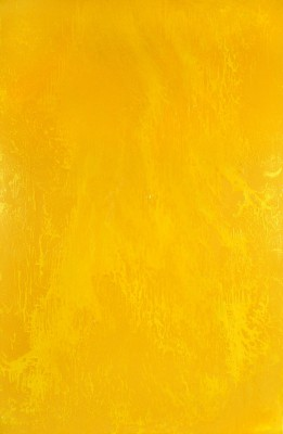 Yellow Energy, 2013, enamel on canvas, 300x200cm (118x78in). The yellow energy painting represents the Energy of the Sun. Throughout history mankind has harnessed solar energy using a range of ever-evolving technologies. Yellow is ultimately the expression of the powerful energy that brings light and life to all beings.