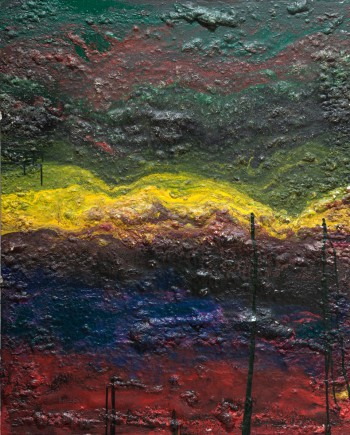 Subsoil, 2011, acrylic, enamel, sealant foam on canvas, 150x120