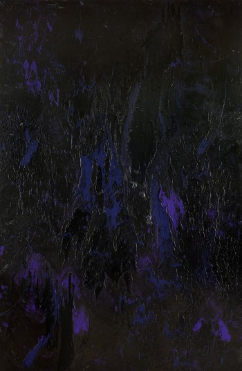 Black Energy, 2013, enamel on canvas, 300x200cm (118x78in). This painting symbolizes the energy of Space where everything exists and interacts. Black energy is mysterious and infinite and we don't know much about it. Equally, black is the most mysterious of colors and signifies power and sophistication.
